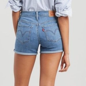 LEVI'S Shorts 31 High Rise Mid Length Distressed